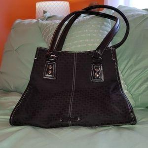Black patterned purse